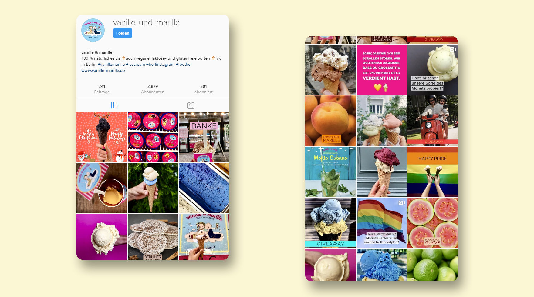 instagram-vanille-marille-social-media-agentur