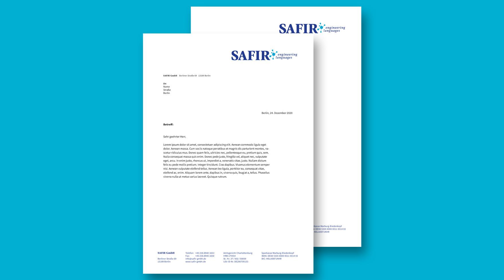 business-letter-designer-safir-gmbh-berlin